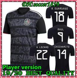 38f576be3a3 2019 2020 Mexico Player version H.LOZANO H.HERRERA R.MARQUEZ CHICHARITO A.GUARDADO  Soccer Jersey 19 20 Mexico national team football shirt