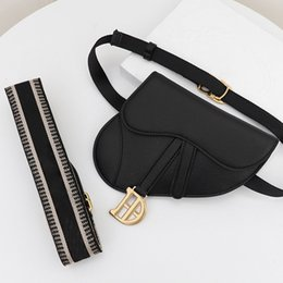 floral saddles NZ - Crossbody Bags Women Black Cow Leather Belt New Saddle Bags Shoulder Messenger Bag Saddle Bag Classic Cell Phone Pouches Buckle Wide Type1