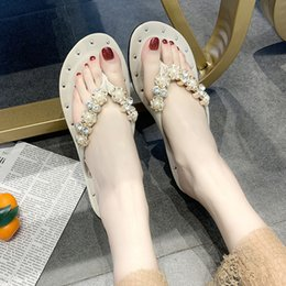 womens casual canvas slip shoes 2019 - JAYCOSIN Fashion Slippers 2019 Womens Sandals Slip-On Flat Bohemia Style Fashion Clip Toe Flip Flop Casual Summer Shoes