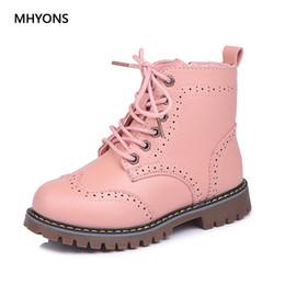 $enCountryForm.capitalKeyWord NZ - Mhyons 2018 Children Martin Boots Girls Shoes Children Warm Boots Fashion Non-slip Girl Princess Boot Autumn Winter Kid Sneakers Y190523