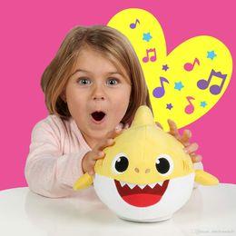 $enCountryForm.capitalKeyWord Australia - 30cm PINKFONG BABY SHARK Plush Toys Dancing Walking Lovely Electric Fun Kid Preschool Shark Singing Song music Dolls Boys Girls Toddler gift