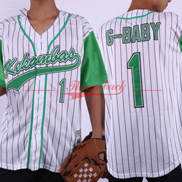 Discount xxl free movies - Men's Kekamlas Jerseys 1 G-BABY Stitched Movie Baseball Jerseys Colour White Size S-3XL Free Shipping Cheap