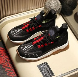 Chains Checkered Australia - 2018 NEW Chain Reaction Sneaker Mens Ultra-Lightweight Shoe Women Casual Shoes Man Women Designers Shoes Leather Breathable with Box