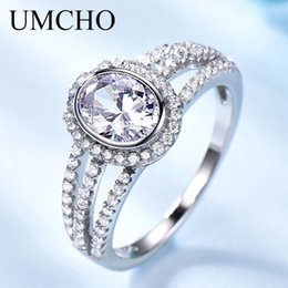 Wholesale Sterling Silver Bridal Rings Australia - Brand Engagement Rings For Women Solid 925 Sterling Silver Rings Jewelry Party Bridal Gift Cubic Zircon Engagement Ring