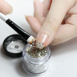 $enCountryForm.capitalKeyWord NZ - 10g Box Gold Sliver Nail Glitter Shinning Mirror nail art decorations accessoires manicure art Tips maquiagem