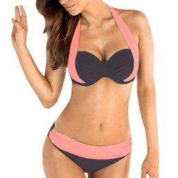 465ee74fd3 Bandeau Bra Plus Size Australia - Women Push Up Padded Bra Bandeau Low  Waist Bikini Swimwear