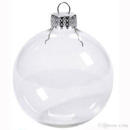 "Clear Glass Christmas Ornament NZ - Wedding Bauble Ornaments Christmas Xmas Glass Balls Decoration 80mm Christmas Balls Clear Glass Wedding balls 3""   80mm Christmas Ornaments"