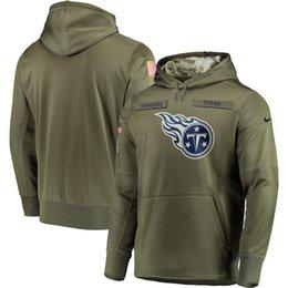 Titan Suit Australia - Tennessee Sweatshirt Titans Salute to Service Sideline Therma Performance Pullover Hoodie Olive