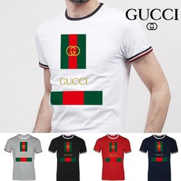 Short Shirt Stitching deSign online shopping - Mens T Shirts Black White Design Of The Coin Mens Fashion T Shirts Top Short Sleeve Tee c6 Gucci