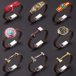 Marvel bracelet online shopping - HWASY1804 New Marvel Series Final Battle Iron Man Bracelet Mjolnir Preparation Hand Strap bracelets bangle