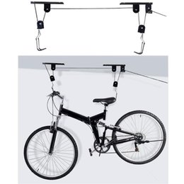 $enCountryForm.capitalKeyWord Australia - 45 lbs Strong Bike Bicycle Lift Ceiling Mounted Hoist Storage Garage Hanger Pulley Rack Metal Lift Assemblies #250334