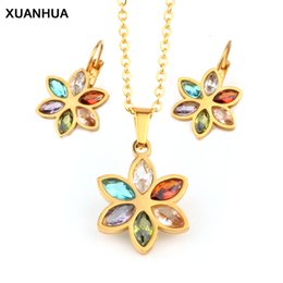 $enCountryForm.capitalKeyWord Australia - XUANHUA Fashion Stainless Steel Wedding Jewelry Sets For Women Bridal Jewelry Sets And Stone Women's Clothing & Accessories