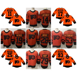 acd7405c7c0 2019 Serie Stadium Jerseys Philadelphia Flyers 79 Carter Hart 14 Sean  Couturier Pittsburgh 59 Jake Guentzel 71 Evgeni Malkin Maglie da hockey