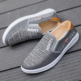 Spring Fall Canvas Shoes Australia - 2019 new casual men spring breathable low to help lazy shoes canvas driving non-slip wear-resistant shoes