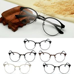 vintage wooden animals Canada - Fashion Optical Glasses Eyeglass Frame Men Women Vintage Spectacles Clear Metal