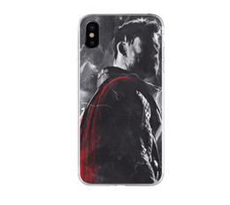 $enCountryForm.capitalKeyWord UK - Super Hero Phone Case For iPhone 6 7 8 X TPU Phone Cover Creative Cell Phone Protector For iPhone Xr Xs Max