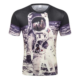 031dd84a Space T-shirt For Men boy 3d Tshirt Funny Print Great Astronaut On The Moon  Summer Tops Tees Creative T Shirt D-80