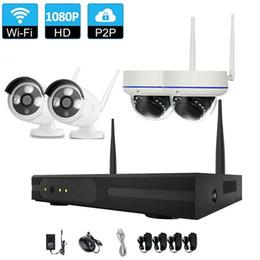 Großhandel CCTV-System Wireless 1080 P NVR 4 STÜCKE 2.0MP IR Innen Außen P2P Wifi IP CCTV-Überwachungskamera System Surveillance Kit