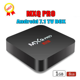 $enCountryForm.capitalKeyWord NZ - 1 PCS Hot MXQ Pro Android 7.1 TV Box Amlogic S905W RK3229 Quad Core 1GB 8GB wifi Google Streaming Media Player Cheap OTT IPTV Boxes