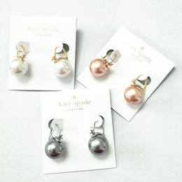 Copper Earrings Australia - new! 3 colors jewelry pearl earrings copper plated 18k gold Korean jewelry tricolor choice 2018 KS earrings free shipping