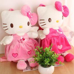 $enCountryForm.capitalKeyWord Australia - Children Hello Kitty Bag Plush Kids Toys Schoolbag Kitten Cartoon Kindergarten Kid Doll Animal Backpack Girls Q190604