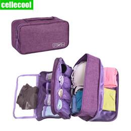 $enCountryForm.capitalKeyWord Australia - Cellecol Portable Travel Compartment Wash Cosmetic Clothes Organizer Fashion Bra Storage Cases Accessories Women Underwear Bags
