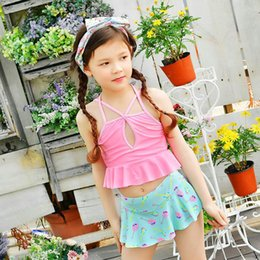 $enCountryForm.capitalKeyWord Australia - Kids Swimsuit Baby Princess Swimwear Two-pieces Bath Suit Infant Lovely Flamingo Children Beachwear Kinder Badeanzug