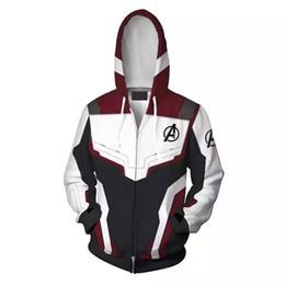 Ingrosso Avengers 4 Endgame Quantum Realm 3D Felpe con cappuccio Super hero Felpe da uomo Felpe con cerniera Cappotto Costume cosplay