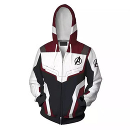 Chinese  Avengers 4 Endgame Quantum Realm 3D Print Hoodies Super hero hoodies Men women Zipper Sweatshirts Coat Cosplay Costume manufacturers