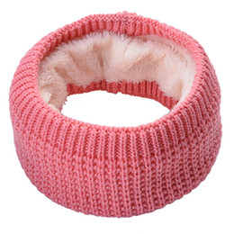 $enCountryForm.capitalKeyWord UK - brand winter ring scarf knitted Fleece inside Neck Warmer Mufflers Shining knit women collar scarves loop wrap snood accessories