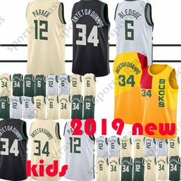 5cc540de7 Giannis 34 Antetokounmpo jerseys Eric 6 Bledsoe Ray 34 Allen Top quality  jersey 100% Stitched 2019 new Youth and Adult