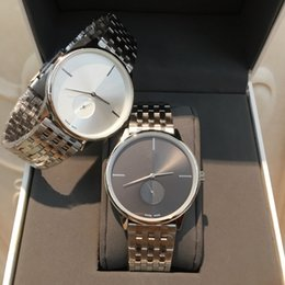 $enCountryForm.capitalKeyWord Australia - wholesale price Fashion Man stainless Steel Watch silver color Luxury male Wristwatch Dress Watch Quartz Clock Japan Movemen drop shipping