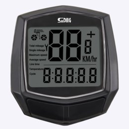bicycle clocks Canada - Stopwatch Backlight Wired Sensor Riding Black Digital Bicycle Speedometer Cycling Computer Waterproof Odometer Accessories Clock