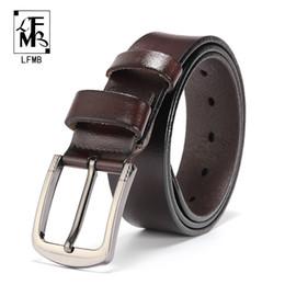 $enCountryForm.capitalKeyWord Australia - [FMB]leather belt men male genuine leather strap pin buckle fancy vintage jeans ceinture homme fancy vintage cowboy jeans