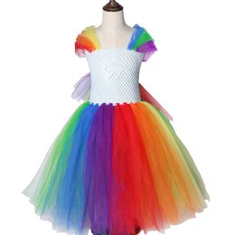 $enCountryForm.capitalKeyWord UK - Bright Rainbow Girls Tutu Dress Princess Pony Little Horse Tutu Dresses For Girls Kids Party Christmas Halloween Dress Costumes J190612