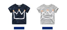 2020 summer new boy short-sleeved t-shirt for children on Sale