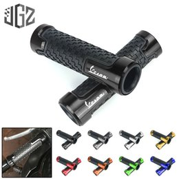 "scooter rubbers NZ - Pair Motorcycle 7 8"" CNC Aluminum Rubber Gel 22mm Handle Bar Grip Scooter Hand Grips for GTS 300 250 125 Sprint Modified"