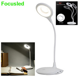 Plastic Mode Australia - Rechargeable LED desk Lamp Touch On off Switch 3 Modes Brightness Cool White Eye Protection Reading Table Lamp 360 angle adjust Nigh Light