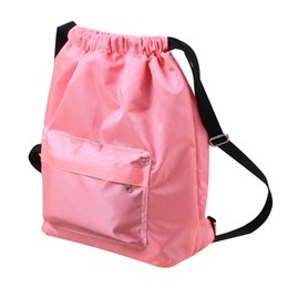 ceae7438065b Drawstring Backpack String Bag Sackpack Cinch Water Resistant Nylon for Gym  Sport Yoga Dry Wet Separated Swimming Bag Men Women Kids