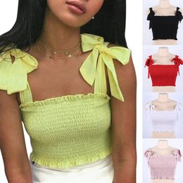 Wholesale Hot Sexy Women Tube Crop Top Bandage Strap Elastic Camis Summer Spring Tank Tops MSK66