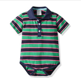 China A New Kind of Baby Leisure Hat-shirt with Short Sleeves and Connected Hat-shirt and Pure Cotton Stripe Climbing Suit 70-100cm supplier hat kinds suppliers