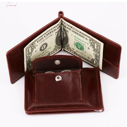 zero coin UK - Wallet Men Short Purses Pu Leather Male Clutch Wallets Zero Purse Vintage Mens Money High Quality Coin Wallet Bag