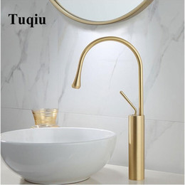 lever mixer Australia - New Basin Faucet Single Lever 360 Rotation Spout Moder Brass Mixer Tap For Kitchen Or Bathroom Basin Water Sink Mixer gold brush