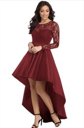 $enCountryForm.capitalKeyWord UK - Shi Ying 02 European and American women's lace long-sleeved ladies sexy dress round neck stitching waist dress