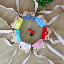 Ingrosso Giocattolo di legno sveglio Macchina fotografica Bambino Bambini Appesi Fotografia Fotografia Prop Decorazione Bambini Giocattolo educativo Regali di Natale di compleanno
