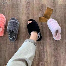 85db7f0595790 2019 роскошный дизайнер Женская обувь Австралия пух да слайд-дизайнер  пушистые слайды меховые тапочки Повседневная обувь сапоги зимние взрывы