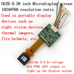0.39inch OLED micro display Night vision Thermal imager Flying helmet Microdisplay screen