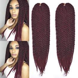 $enCountryForm.capitalKeyWord Australia - Hot Selling! 3Pcs Lot 18inch 3D Cubic Twist Crochet Hair 12 Strands pack Ombre Synthetic Braids Hair Extension For Black African Women