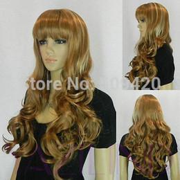 $enCountryForm.capitalKeyWord Australia - p5983Q>>>>>light brown curly wavy long women ladies hair wig cap cosplay party new