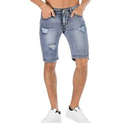 men ripped jeans size 38 Australia - Men s Trend Hot Jeans Fashion Ripped Jeans Five Denim Pants Casual Youth Knee Length Jean Plues Size Jean 34 36 38 40 42
